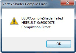Vertex Shader Compiler Error