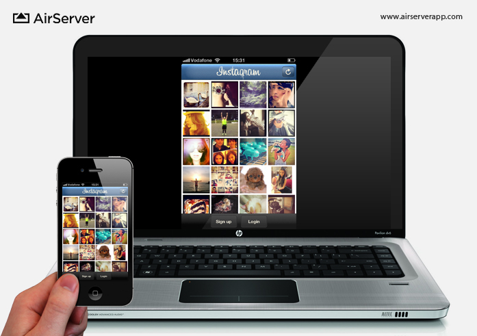 AirServer: Instagram on PC via iPhone