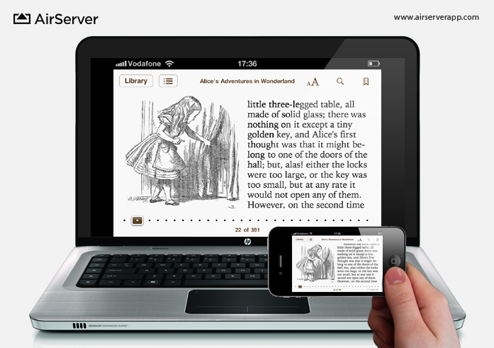 AirServer: iBooks on PC via iPhone