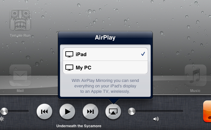 Connecting iPad to PC with AirServer