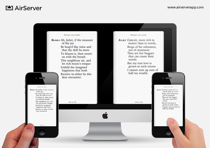 AirServer: iBooks on Mac via iPhone
