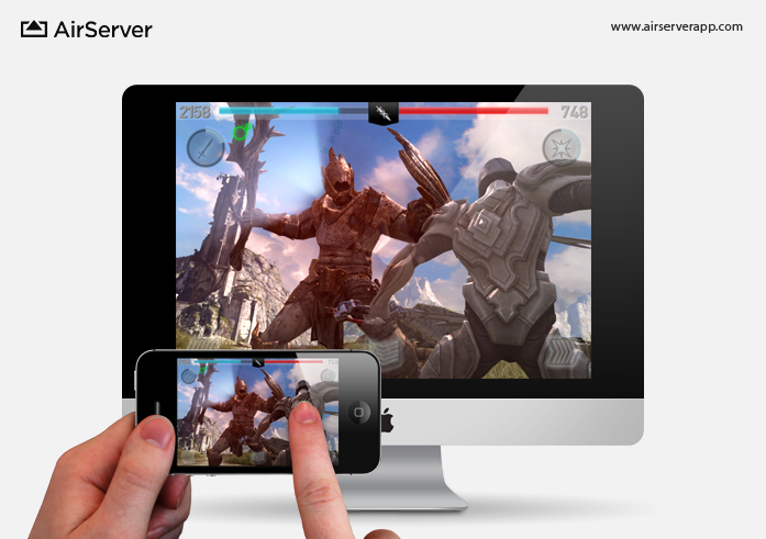 AirServer: Infinity Blade II on Mac via iPhone