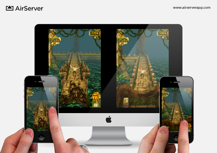AirServer: Multiplayer Temple Run on Mac via two iPhones